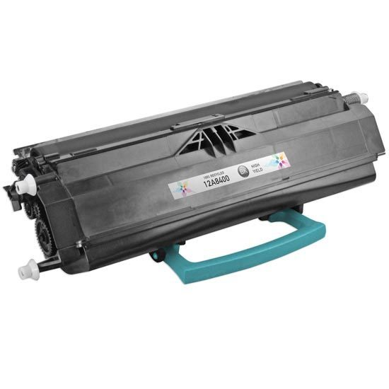 Remanufactured 12A8400 High Yield Black Toner for Lexmark