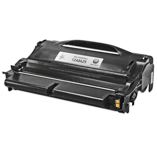 Remanufactured 12A8425 High Yield Black Toner for Lexmark