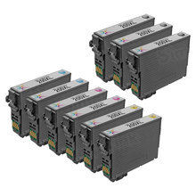 Remanufactured Epson Bulk Set of 9 High Yield Ink Cartridges - 3 Black T200XL120 and 2 each of: Cyan T200XL220, Magenta T200XL320 and Yellow T200XL420