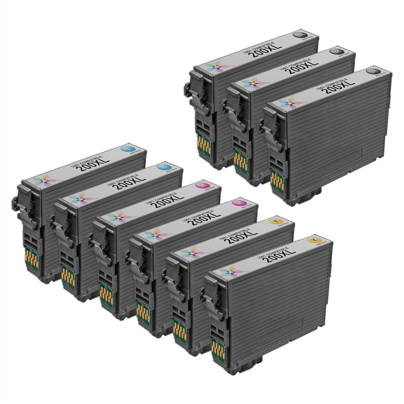 Epson T200XL Remanufactured Ink Set of 9