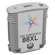 Remanufactured Replacement Ink Cartridge for Hewlett Packard C9396AN (HP 88XL) High-Yield Black