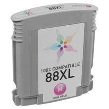 Remanufactured Replacement Ink Cartridge for Hewlett Packard C9392AN (HP 88XL) High-Yield Magenta