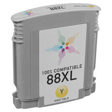 Remanufactured Replacement Ink Cartridge for Hewlett Packard C9393AN (HP 88XL) High-Yield Yellow