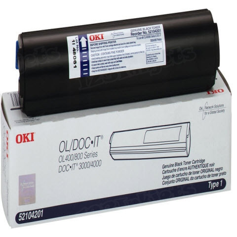 OEM Okidata 52104201 Black Toner Cartridge