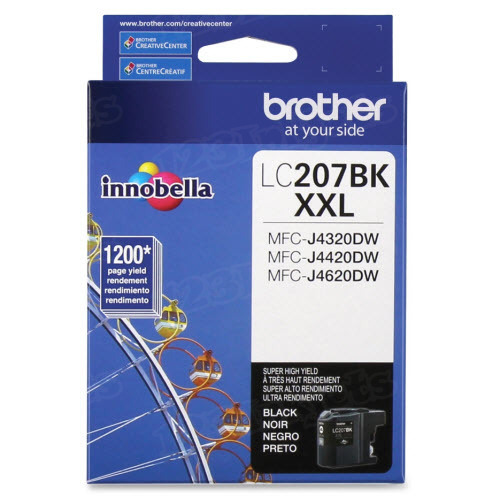 OEM LC207BK Super HY Black ink for Brother