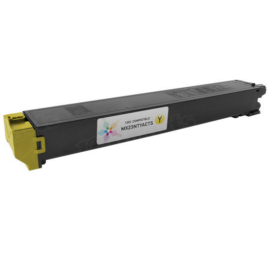 Sharp Compatible MX23NTYA Yellow Toner