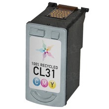 Remanufactured Canon CL31 (1900B002) Color Ink Cartridges