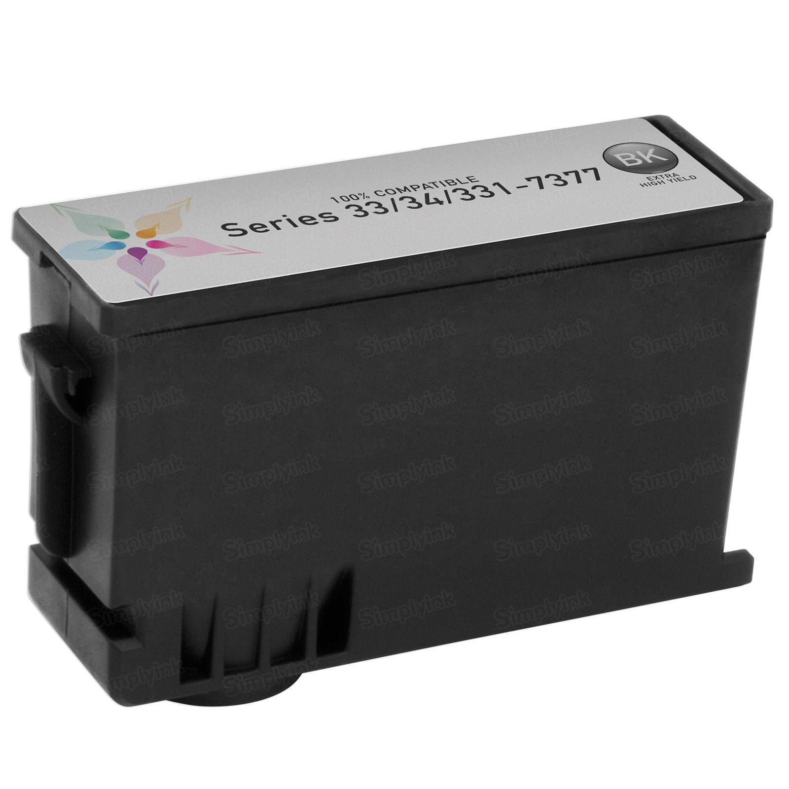Compatible Ink Cartridge for Dell 331-7377 Extra HY Black Series 33/34
