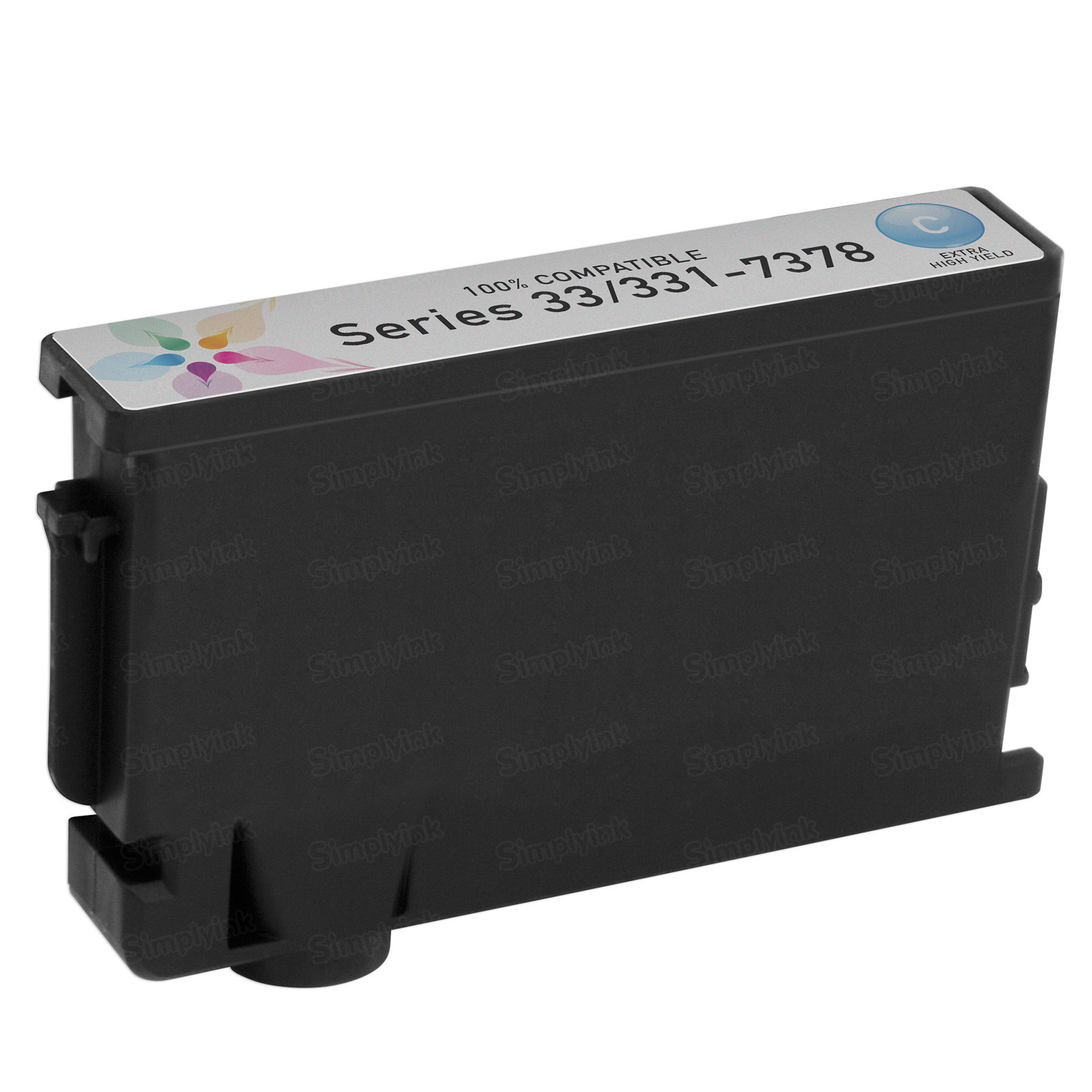 Compatible Ink Cartridge for Dell 331-7378 Extra HY Cyan Series 33