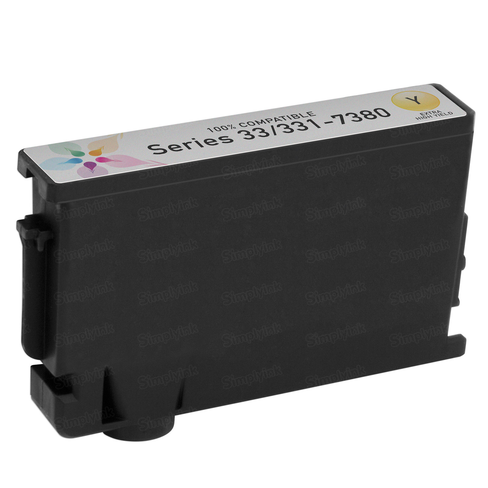 Compatible Ink Cartridge for Dell 331-7380 Extra HY Yellow Series 33