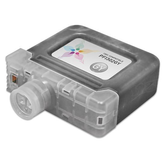 Canon Compatible PFI-302GY Gray Ink