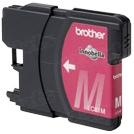 Brother LC65M Magenta OEM Ink Cartridge, High-Yield