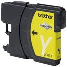 Brother LC65Y Yellow OEM Ink Cartridge, High-Yield