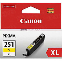 Canon CLI-251XLY Yellow OEM High-Yield Ink Cartridge, 6451B001