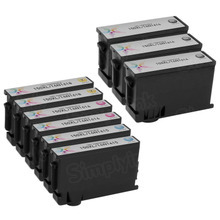 Compatible Lexmark Bulk Set of 9 150XL Ink Cartridges 3 Black (14N1614) and 2 each of: Cyan (14N1615), Magenta (14N1616) and Yellow (14N1618)