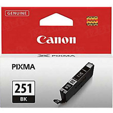 Canon CLI-251BK Black OEM Standard-Yield Ink Cartridge, 6513B001