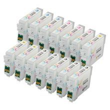 Epson Remanufactured T068/T069 Set of 14 Ink Cartidges: 5 T068 Black & 3 T069 Cyan, Magenta, Yellow