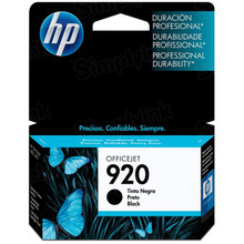 Original HP 920 Black Ink Cartridge in Retail Packaging (CD971AN)