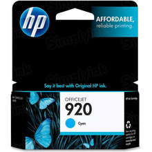 Original HP 920 Cyan Ink Cartridge in Retail Packaging (CH634AN)