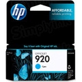 HP 920 Cyan Original Ink Cartridge CH634AN